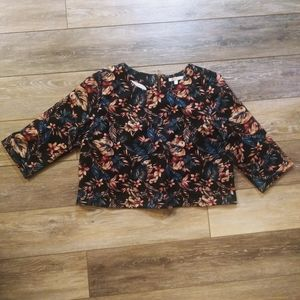 Skies are blue floral stylish classy top